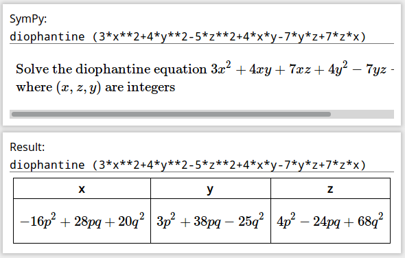 Gamma's Diophantine equation solution