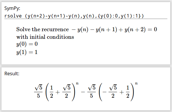 Gamma's recurrence relation solution