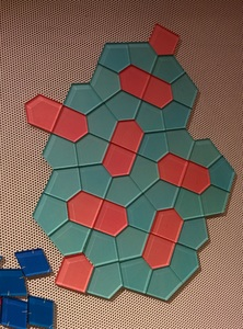 Tessellating shapes at the MoMath.