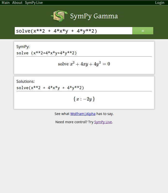SymPy Gamma and SymPy Live: Python and Mathematics Online